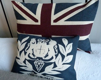 Diamond Jubilee flag festival cushion and covers offer.