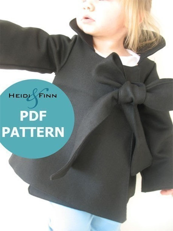 Chic Cocktail Swing Coat pattern and tutorial 12M-6T holiday jacket PDF