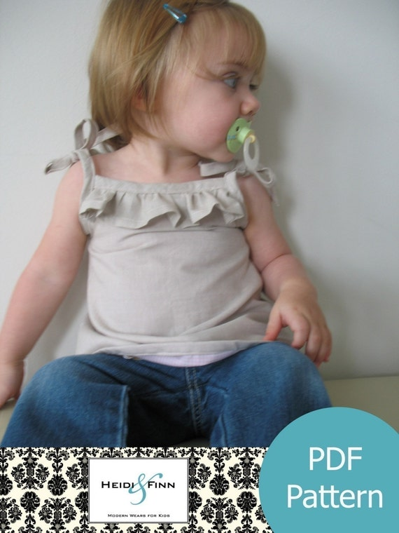 Cute Little Ruffle Shirt tutorial and pattern PDF child 6M-3T EASY Sew