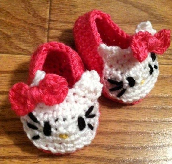 Hello Kitty Inspired Baby Booties
