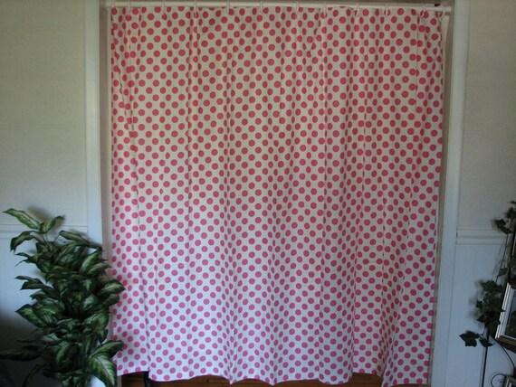 polka dot shower curtain. Black Bedroom Furniture Sets. Home Design Ideas