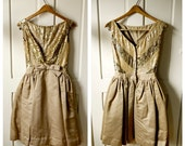 gold sequin mini gown S