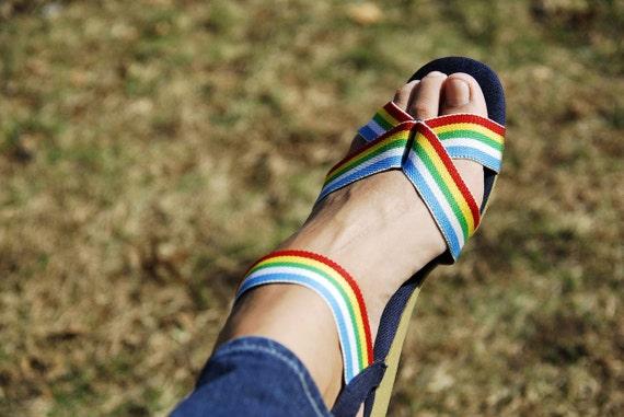 SALE Rainbow Strappy Sandals 9-9.5
