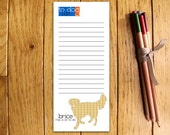 Golden Retriever Personalized Notepads -- To Dog List Custom Breed