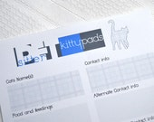 Pet Sitter Kitty Pad Notepad Checklist