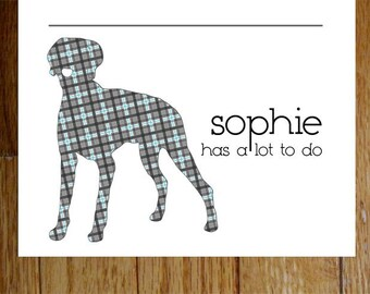 Weimaraner Personalized Notepads -- To Dog List Custom Breed