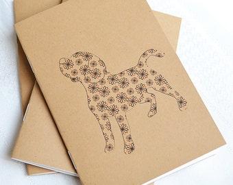 Little Notebooks Kraft Beagle - Set of 2 Dog Pocket Notebooks