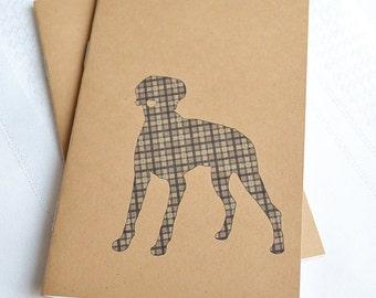 Little Notebooks Kraft Weimaraner - Set of 2 Dog Pocket Notebooks