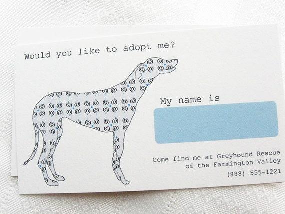 Adopt Me Rescue Dog Calling Card - Set of 24