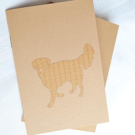Little Notebooks Kraft Golden Retriever - Set of 2 Dog Pocket Notebooks