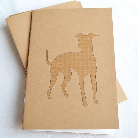 Little Notebooks Kraft Italian Greyhound - Set of 2 Dog Pocket Notebooks