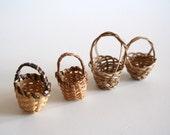26 Miniature Woven Baskets