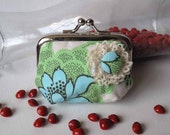 Minty Lotus Coin Purse