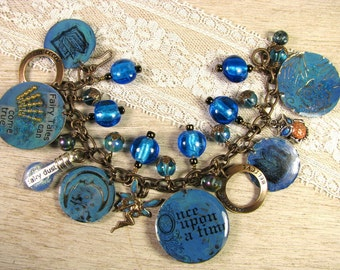 "Fairy Tale Theme Charm Bracelet  - ""Once Upon A Time"""