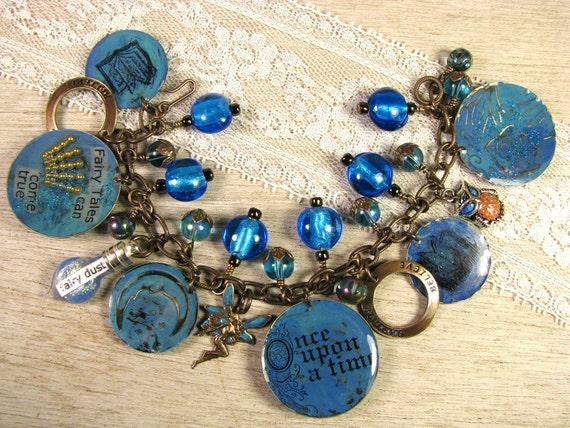 "Fairy Tale Theme Charm Bracelet  - ""Once Upon A Time"""