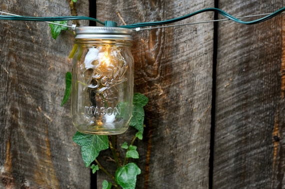 On Sale 20 foot Mason Jar Strand with Light- Full Pint