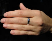 Petite Star Sapphire Ring in Sterling