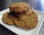 Spiced Pumpkin Pecan Cookies, Vegan