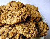 Oatmeal Walnut Cookies, VEGAN
