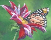 Monarch Butterfly Art, Wall hanging, home decor, flower pictureLimited Edition Print