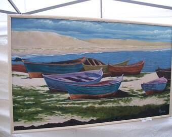 Boats Aground Custom Painting