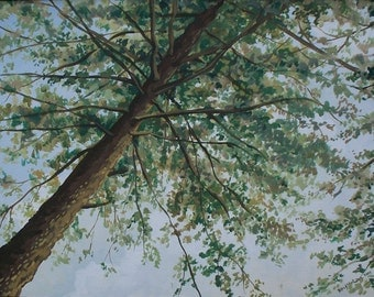 Tree Card, Print from original painting, blank note card