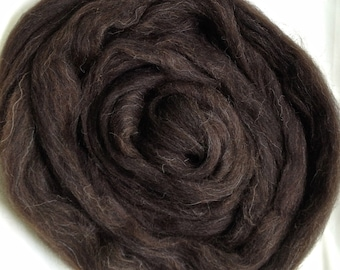 Jacob Wool Spinning Top - undyed natural bay black/brown - spinning/felting - 4 ounces