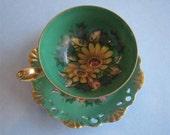 Green Luster Tea Cup