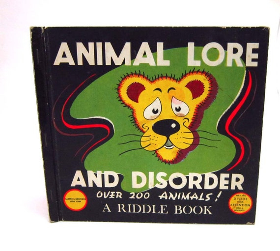 Animal Lore And Disorder- Over 200 Animals- A Riddle Book- Children