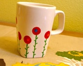 A Field of Modern Poppies Mug / Ceramic Tableware / Contemporary Functional Ceramics for Your Home