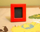 Neon Red Mini Picture Frame / At Home Decor / Contemporary Functional Ceramics for Your Home