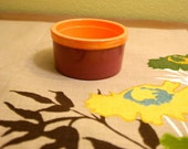 Mauve and Orange Ramekin Dish / Ceramic Tableware /Contemporary Functional Ceramics for Your Home