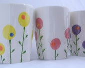 Custom Order - A Field of Modern Poppies Mug / Ceramic Tableware / Contemporary Functional Ceramics for Your Home