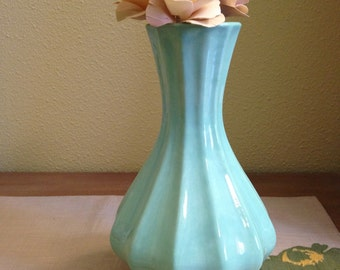 Fluted Organic Sage Green Vase / Ceramic Vases / Contemporary Functional Ceramics for Your Home