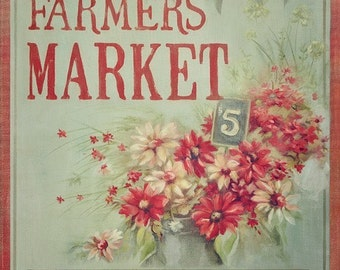 Farmers Market Flowers 11x14 art print