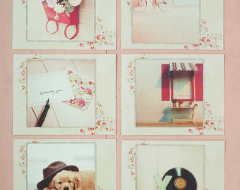 Classic Red Postcards - gift set of 6