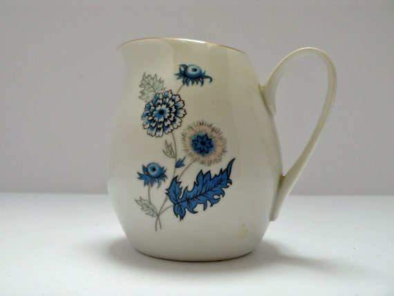 Stunning Vintage BOHEMIAN China milk jug from Czechoslovakia - 1960s Cornflower design