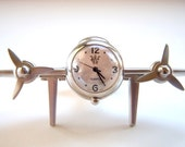 Fathers Day Gift Vintage Airplane Desk Clock