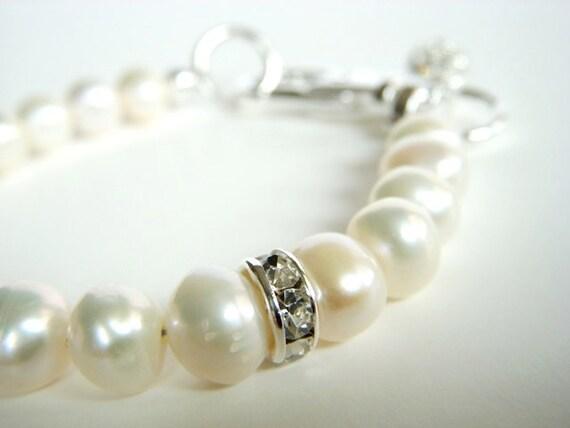 White Pearl Dog Collar Wedding Jewelry