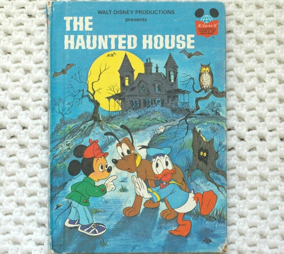 Haunted House Disney Mickey Mouse Vintage Book