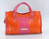 Alba Color Block Leather Bag