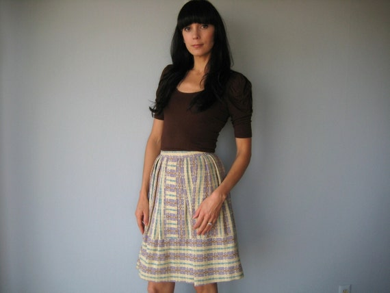 1950s vintage Textured Wool drindl skirt