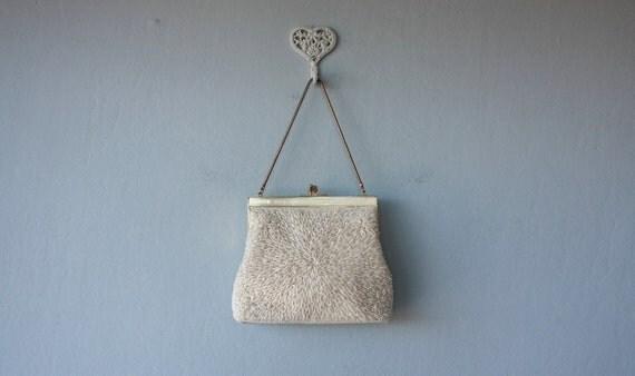 60s beaded bag / 1960s beaded evening bag / Moon Drop purse