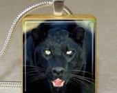 Black Panther Jaguar Cat Photo Scrabble Tile Pendant from JewelsbyJMarie
