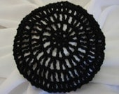 Hair Net / Bun Cover Black Crocheted Traditional Net Amish Mennonite