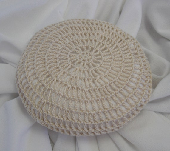 ... Large Crocheted Natural Hair Net / Bun Cover Amish Mennonite on Etsy
