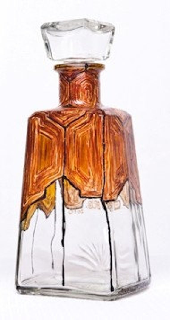 Hand Painted Decanter For Him