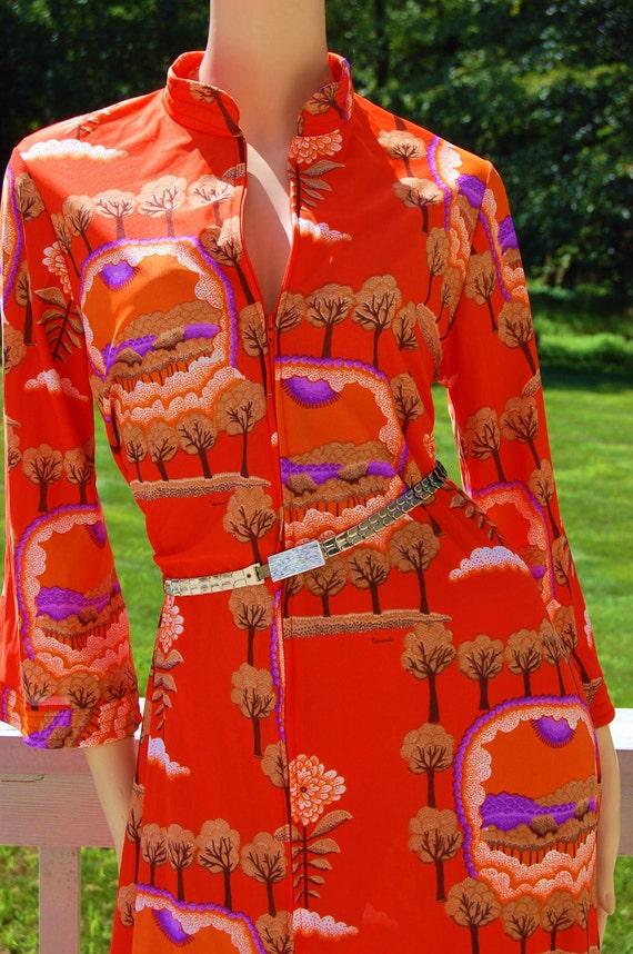 Gorgeous  SIGNED  EDUARDO  Indie BoHo Chic Hostess Caftan Dress Viintage 60s 70s