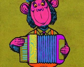 The Musical Monkey of Munich - Limited Edition Print