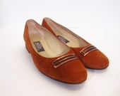 Vintage 80s Super Suede Swiss BALLY Flats 6